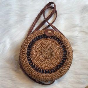 Handbags - Rattan Crossbody Round Bag - Brand New